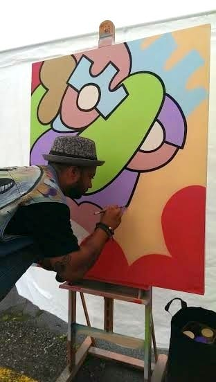 SST live painting from the side