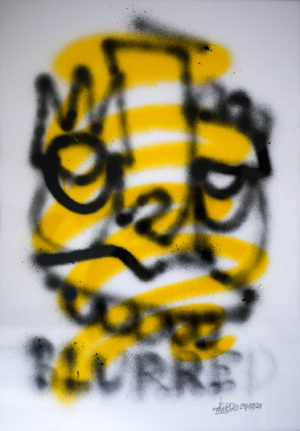 Blurred – spray paper 250gsm A2 oibel1