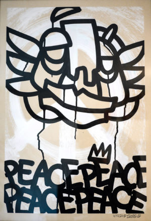 Peace is King – acrylics on unbleached paper 250gsm A2 oibel1