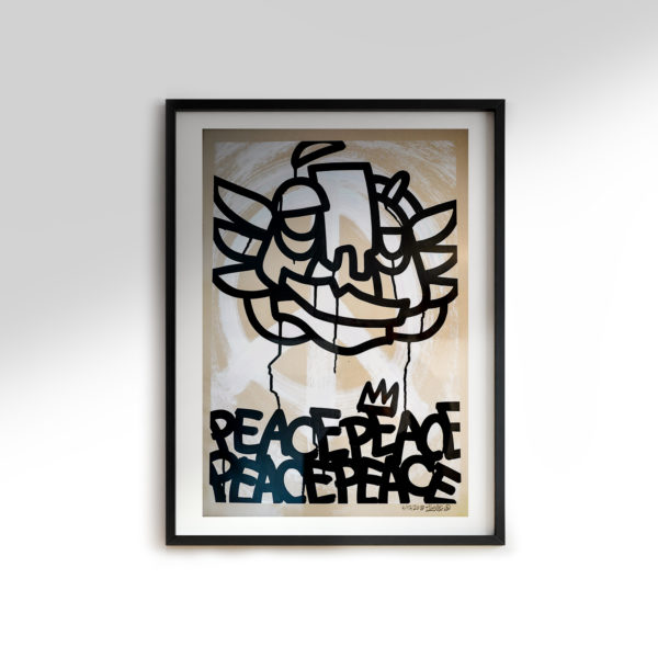 Peace-is-King—acrylics-on-unbleached-paper-250gsm-A2-oibel1-p