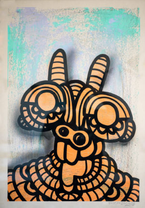 Rabskito—Mixed-media-acrylic-unbleached-paper-250gsm-A2-oibel1