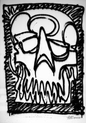 black box skull – oneline spray paper 250gsm A2 oibel1