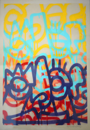 layered1 – spray on unbleached paper 250gsm A2-oibel1