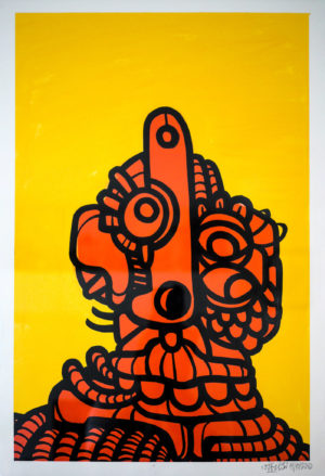 orange-spirit—acrylics-on-paper-250gsm-A2-oibel1